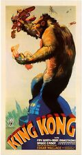 KING KONG animals vintage art print on Paper or Canvas Giclee Poster