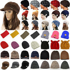 Unisex Men Women Knitted Winter Warm Baggy Slouch Beanie Hat Hip Hop Ski Cap New