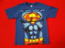 NWT DC COMICS SUPERMAN COSTUME MUSCLE T-SHIRT GRAPHIC TEE YOUTH BOYS SZ SMALL