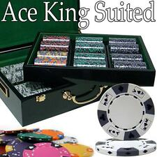 Custom - 500 Ct Ace King Suited Chip Set Hi Gloss Case, BryBelly