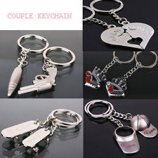Keychain Heart Kiss Love Couple Key Chain Ring Keyring Keyfob Lover Present New