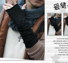 Men First-rate Korean Style Cotton Blends Half-Length Gloves Warm Long Mitten H