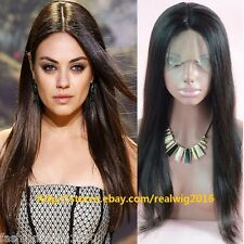 "10""-20""Silky Straight 100% Indian Remy Human Hair Lace Wigs Full Lace/Lace Front"