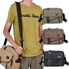 Men's Vintage Canvas Schoolbag Satchel Shoulder Messenger Bag Travel Laptop Bags
