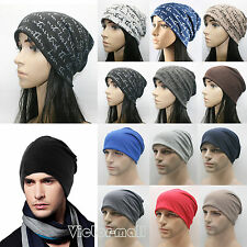Unisex Cotton Beanie Hat Men Women Warm Ski Skull Cap Outdoor Stretch Slouch Hat
