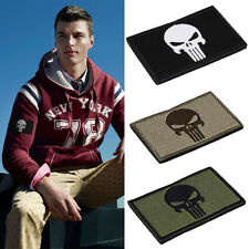 HOT Skulls Double Side Embroidery Trim Patch USA Army Morale Armbands Badge 1pcs