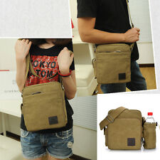 Mens Womens Small Canvas Multi Function Shoulder Messenger Cross Body Bag Purse