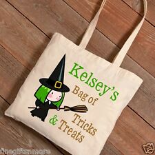 Halloween Trick or Treat Canvas Bag Personalized 10Children Designs Kids Gifts