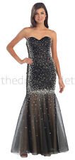 Long Homecoming Dresses Form Fitting Strapless Sweetheart Sequins Prom Gown