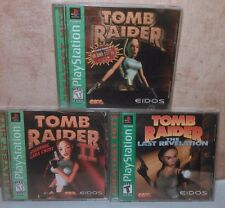 Tomb Raider The Last Revelation Tomb Raider II Tomb Raider PS1 Lot Complete