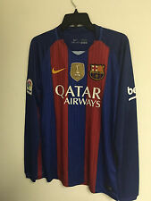 16/17 Messi Barcelona Home FIFA Patch Adult Long Sleeve Jersey Large