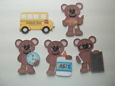 3D-U Pick - School Bear Bus Paste Clock Crayon Scrapbook Card Embellishment 1353