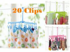 Hi-Quality 20 Clips Pin Hanging Dryer Laundry Clothes Hanger Octopus Foldable CJ