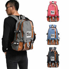 Backpack Canvas Bag Men's Vintage Laptop Travel Camping Bag Rucksack Shoulder