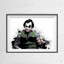 DC COMICS THE JOKER HEATH LEDGER POSTER PICTURE PRINT Sizes A5 to A0 **NEW**