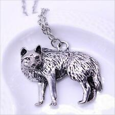 Occident Men Long Chain Vintage Retro New Wolf Charm Necklace Pendant Jewelry