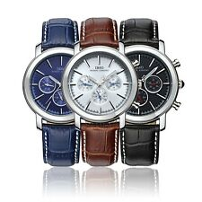 Multi-function Dual Time Display Analogue Quartz Watch Wristwatch With Guide I6