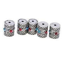 5pcs Ethnic Thailand Style Tube Beads Spacer Charms Jewelery Craft Findings