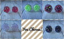 12mm Faux Druzy Earrings Select Your Own Colors Handmade Resin Jewelry