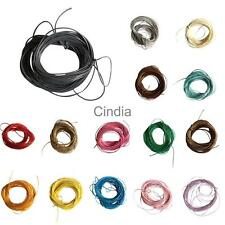 10 Metres of Waxed Nylon Cord Thread Rope Jewellery Crafts Beading String 1mm