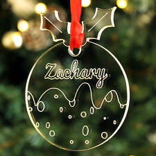 Personalised Your Own Name Christmas Pudding Bauble Tree Decoration Gift Present