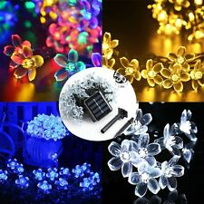 50 LED Solar Flower Fairy String Lights for Outdoor Garden Xmas Party Wedding