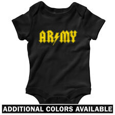 Army Rocks One Piece - Baby Infant Creeper Romper NB-24M - Gift US Grunt Ranger