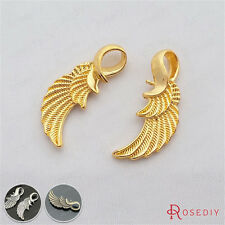 20PCS 32*10MM Zinc Alloy Wing Charms Pendants Jewelry Findings Accessories 21112