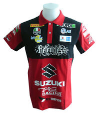 NEW SUZUKI MOTORCYCLE SPORT RACING TEAM BIKER RED MENS POLO T-Shirt Sz M,L,XL
