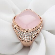 18K Rose Gold Plated Ring With Swiss Cubic Zirconia  (R772-38)