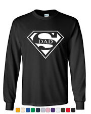 Super Dad Long Sleeve T-Shirt Funny Superhero Father's Day