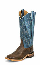 Tony Lama Womens Chocolate Reverse Quill Print Leather 13in Western Boots