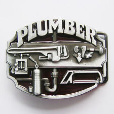 Men Belt Buckle Plumber Tradesman Belt Buckle Gurtelschnalle Boucle de ceinture