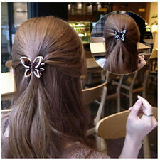 New Butterfly Crystal Rhinestone Claw Hairpin Womens Hair Clamp Accessories Clip