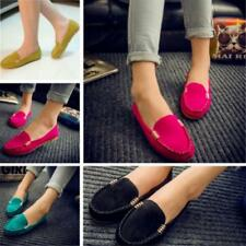 Stylish Women's Casual Suede Slip On Driving Shoes Moccasin Loafer Flat Shoes L