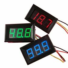 Mini WaterProof DC 0-30V Voltmeter LED Panel 3Digital Display Volt Voltage Meter