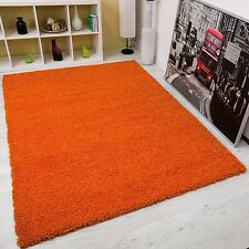 Shaggy Rugs Orange High Pile Small Large Runner Soft Touch Thick Pile Terracotta