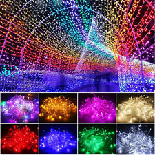 10/20M 100/200 LED Fairy String Lights Lamp Bulb Party Christmas Xmas Tree Decor