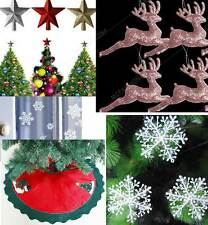 Gold/Red/Silver Glitter Star 90cm Snowman Christmas Tree Skirt20 Xmas Christmas