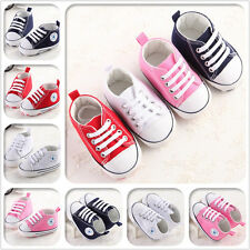 New Arrived Baby Boy Girls Crib Shoes PreWalker Sneakers Size 3 6 9 12 18 Months