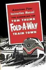 INSTRUCTION MANUAL for American Flyer Tom Thumb Fold Away Layout - REPRINT