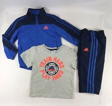 Adidas Boys Set, Adidas 3 piece Windbreaker Tracksuit Jacket and Pants size 2