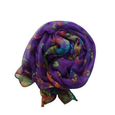 Retro Soft Cotton Silk Women Elegant Pashmina Wrap Shawl Scarf Long Voile Stole