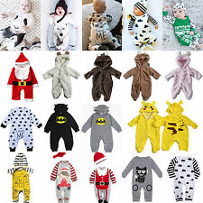 Cute Newborn Baby Girls Boys Cotton Clothes Romper Bodysuit Jumpsuit Outfits Set