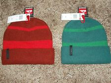 QUIKSILVER MT Fake Beanie hat cap Green or Red FREE SHIPPING