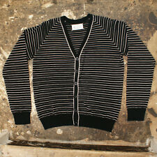 NEW Maison Martin Margiela Black/White Striped Cardigan GENUINE - Size: L