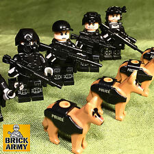 Custom minifigure soldier police SWAT military special force bad guy+ Lego brick