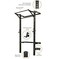 NEW PRx Performance Wall-Mounted Profile PRO Folding Squat Rack with Kipping Bar