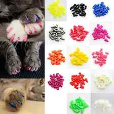 20 Pcs Soft Lovely Dog Cat Pet Nail Caps Claw Control Paws off Adhesive Glue New