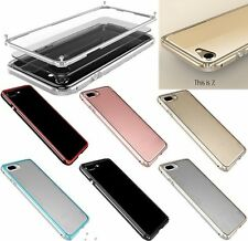 Luxury Aviation Aluminum Metal Bumper Frame Clear Back Cover For iPhone 7 7 Plus